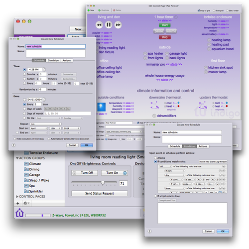 Various Indigo Mac client windows