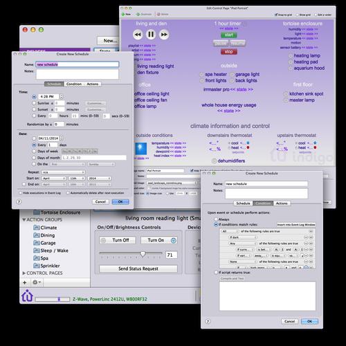 Various Indigo Mac client windows